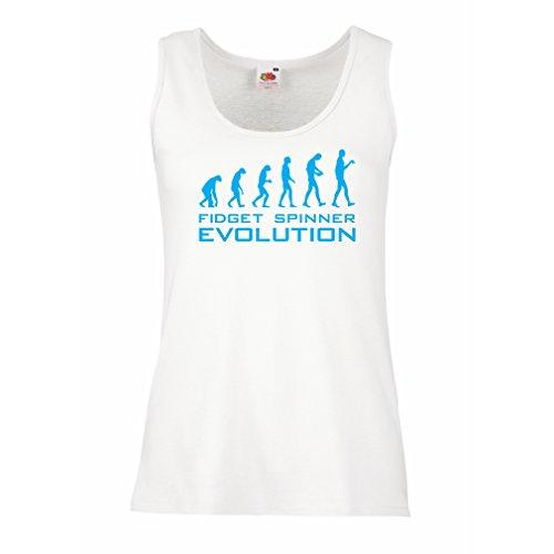 Top Die Evolution - Fidget Spinner (Medium Weiß Blau) (Beste Halloween-office-designs)