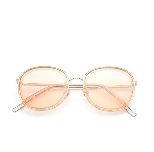 DONG Sonnenbrille männlichen und weiblichen Allzweck-Full-Frame-UV400 UV-resistenten Harz Sonnenbrillen (14,1 * 5,7 * 5,6 * 1,9 * 15,6 cm) (Farbe : Pink)