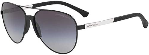Emporio Armani Black Metal Men EM-2059-32038G-61 Sunglasses