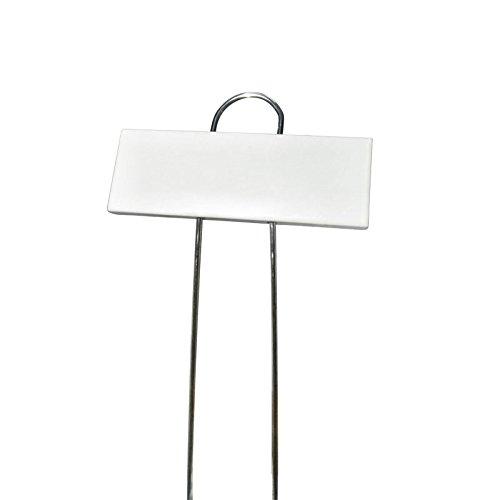KINGLAKE 10 Stück Metall Pflanzenstecker Weiß, Pflanzenschilder zum Beschriften Stecketiketten Pflanzen im Garten …