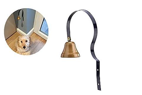 PUPTECK Brass Dog Tinkle Bell Pet Doorbell Adjustable for Housebreaking / Housetraining / Potty Training