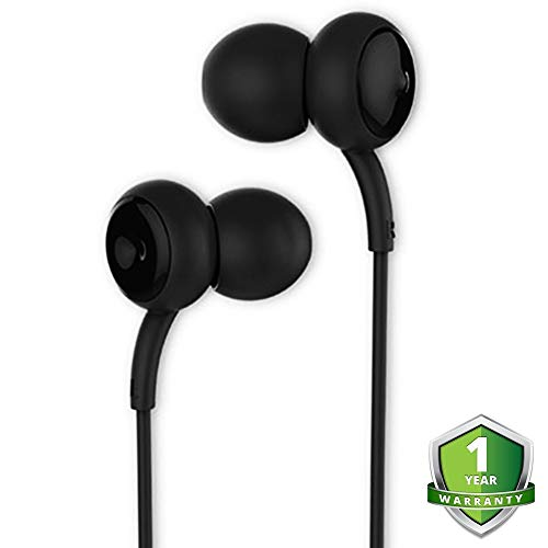 Earphones with Microphone/Mic with Bass in-Ear Headphones Earphones Built-in Mic for Phone Control for Apple iPhone, Samsung, Android Phone & More