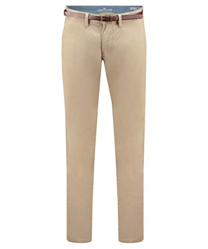TOM TAILOR Herren Chinohose Travis Regular Fit Taupe (23) 33/32 Relaxed Fit Chinos