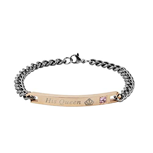Cats coppia popolare metallo geometria fibbia ad aragosta catena del serpente bracciale a catena la sua bellezza bracciale in acciaio inossidabile con cinturino in oro nero con cinturino in oro rosa , oro
