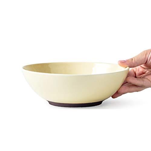 üssel Schüsseln Hause Kreative Salatschüssel Persönlichkeit Keramik Obstschale Nette Verdickte Versorgungsschüssel (Color : Yellow, Size : 18.5 * 6cm) ()