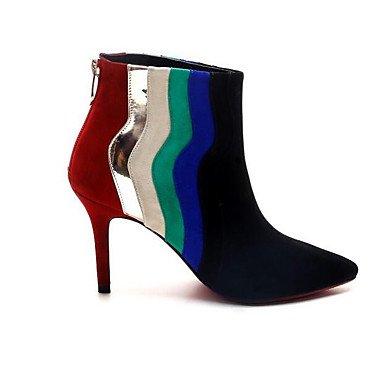 RTRY Scarpe Donna Vera Pelle Nabuck Pelle Autunno Inverno La Moda Stivali Stivali Per Casual Nero Black Us5.5 / Eu36 / Uk3.5 / Cn35 US5.5 / EU36 / UK3.5 / CN35