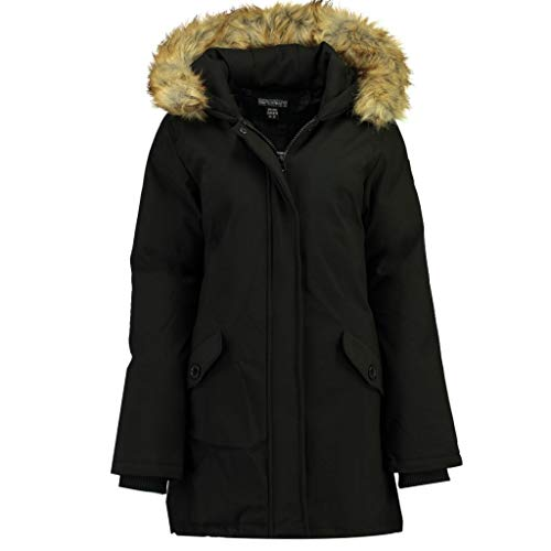 Geographical Norway Parka Mujer DINASTY Negro 02