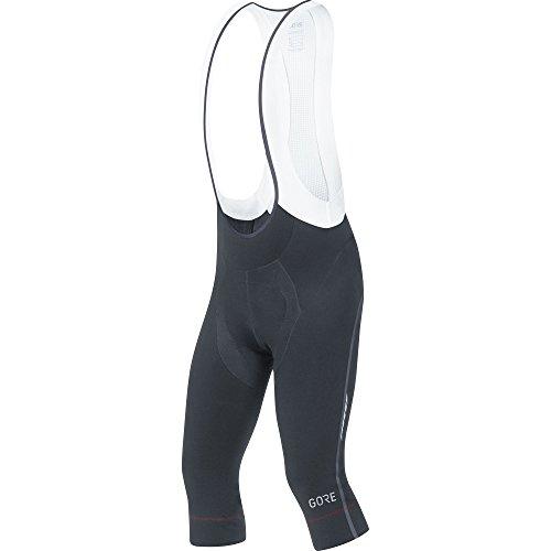 GORE Wear Atmungsaktive, 3/4 Herren Trägerhose, Mit Sitzpolster, C7 Partial Thermo 3/4 Bib Shorts+, L, Schwarz, 100180 -