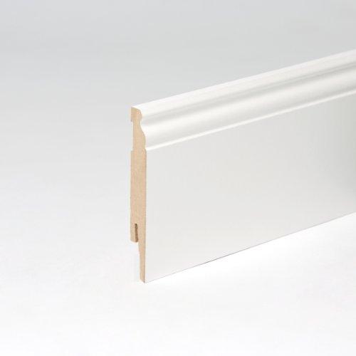 50 Mètres plinthes profil berlin 120 mm pack tout inclus blanc