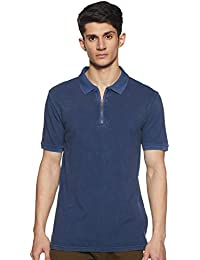 BUFFALO By fbb Men's Solid Regular Fit Polo