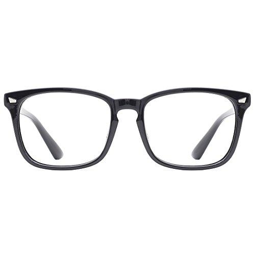 TIJN Filtro luce blu occhiali Montature Occhiali da Vista Retrò Lente Trasparente Donne Uomo