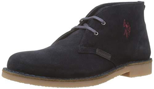 U.S. Polo Assn. AMADEUS17 Suede, Sneaker a Collo Alto Uomo, Blu (Dark Blue Dk Bl), 43 EU