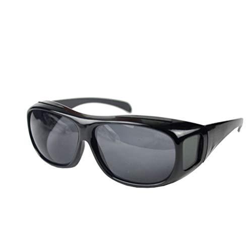 Nachtfahr Sonnenbrille, HD Vision Day Vision Wrap Around Sport Blend UV-Sonnenbrille Für Frauen Männer, 3ST,Black