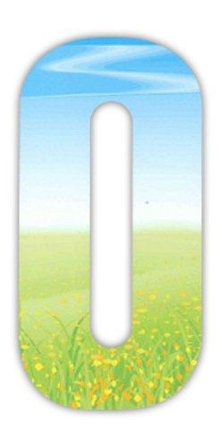 Mülltonnenaufkleber, Nummern, Wiesenmotiv (Zwerg-lilie)