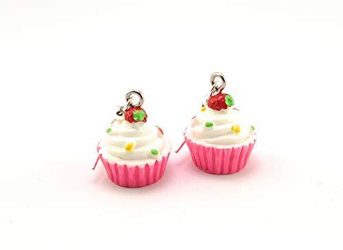 Stechschmuck Ohrringe Ohrhänger Handmade Muffins Cupcakes Rockabilly Damen Kitsch Kawaii