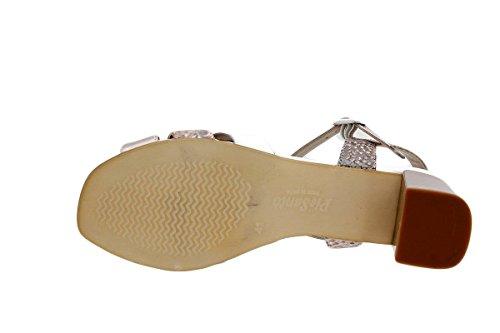Scarpe donna comfort pelle PieSanto 1493 Sandali Tacco larghezza speciale Nude