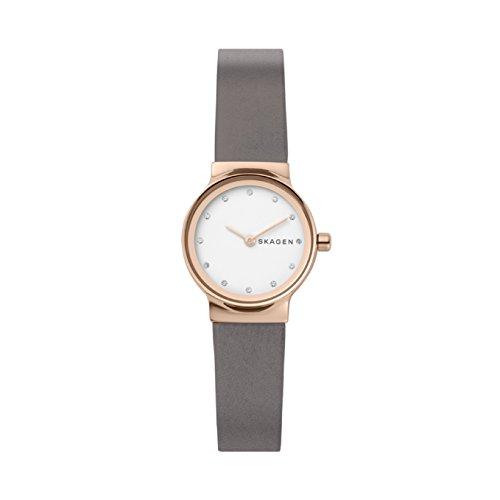Skagen orologio analogico quarzo da donna con cinturino in pelle skw2669