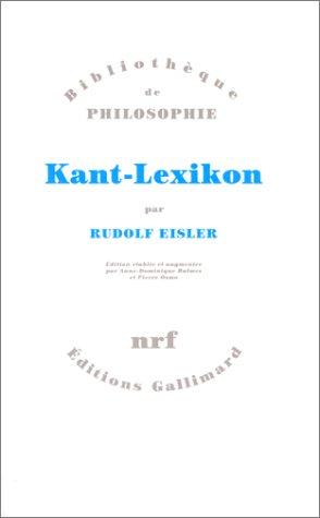 Kant-Lexikon par Rudolf Eisler