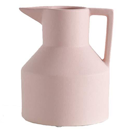 LYN Vaso in Ceramica casa Vaso in Ceramica Soggiorno Decorazione Creativa bollitore Design Vaso Ristorante Camera da Letto Fiore Fiore (Color : Pink, Size : 20.5 * 16CM)