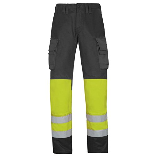 SNICKERS WORKWEAR 3833 - PANTALONES  COLOR MUTED BLACK-HV GELB  TALLA 150
