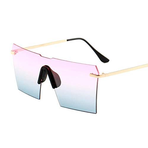 Klassisches Retro-Outdoor-EssentialSiamese Brille großen Rahmen quadratischen Ozean Linsenfarbe
