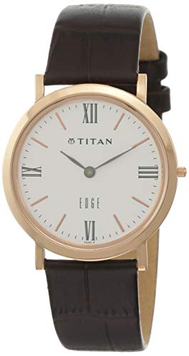 Titan White Dial Analogue Watch for Men (679WL01)