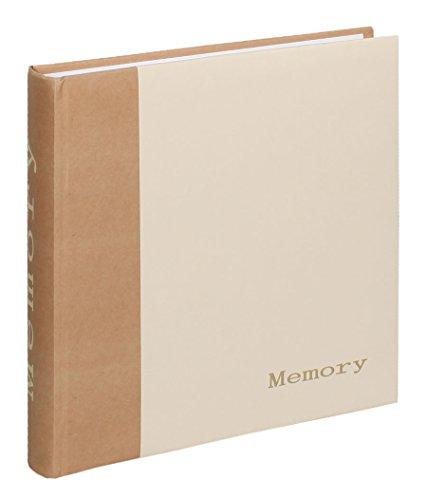 Memory Fotoalbum 30x30 cm 100 weiße Seiten Foto Album Fotobuch Memories: Farbe: Weiß