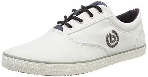 bugatti Herren 321502046900 Sneaker, Weiß (White 2000), 44 EU - White 44