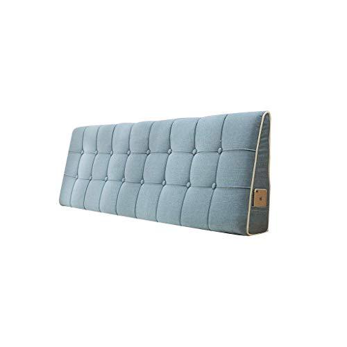 Button Kopfteil (YXLBZ Rückenkissen - Kissen Double Big Rückenlehne Lange Kissen können Kissen Schlafzimmer Bedside Mats gewaschen Werden (Farbe : A, größe : 190 * 50 cm))