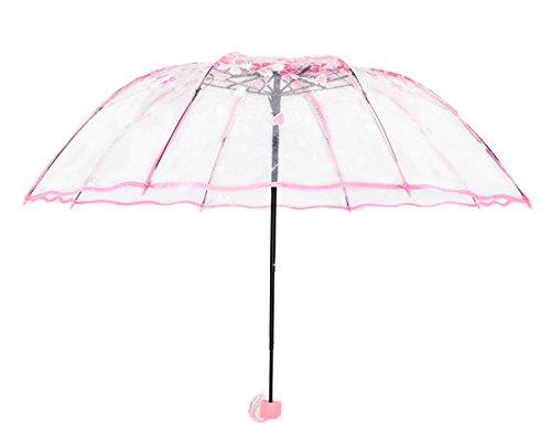 colordrip-cherry-blossom-transparent-folding-travel-umbrella