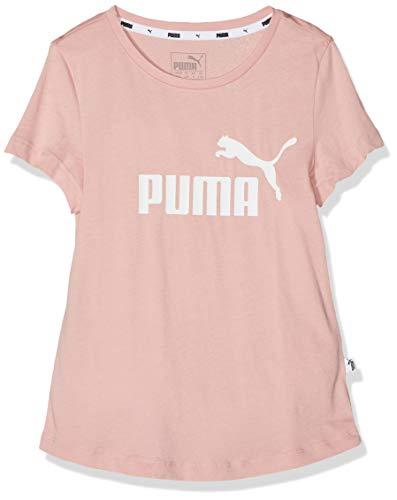 Rosa Logo Mädchen (Puma Mädchen ESS Tee G T-Shirt, Bridal Rose, 110)
