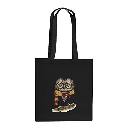 Texlab Harry Owl - Stoffbeutel, schwarz