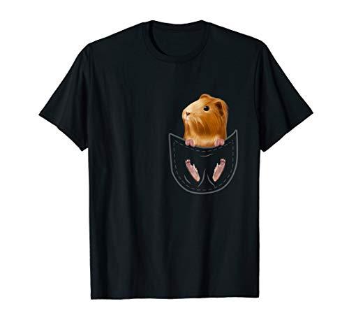 Meerschwein in Brusttasche Kinder Geschenk Meerschweinchen T-Shirt