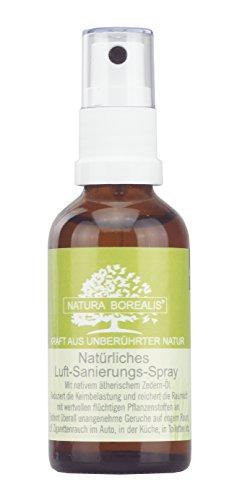 Natürliches Luft-Sanierungs-Spray | 50 ml Raumspray | Zedern-Nadel-Öl | NATURA BOREALIS …