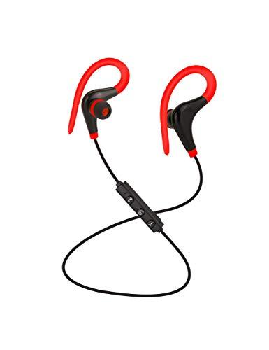 HPYS Sport Kopfhörer Hand Free Wireless Bluetooth Headset Kopfhörer Sport In-Ear-Kopfhörer für Smartphone Red - Red Hands Free-headset
