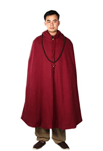 KATUO - Manteau - Cape - Homme Bordeaux
