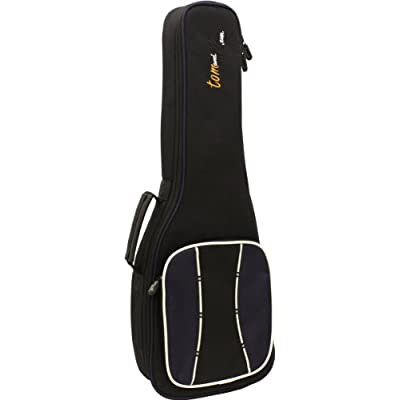 Tom & Will 66UKT Tenor Ukulele Gig Bag - Black with Navy Trim with Grey and Navy Piping - acoustic-guitar-cases, musician-bags