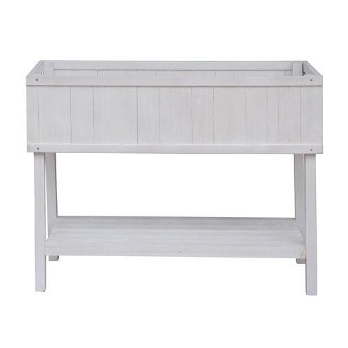 Herstera Garden 11201001 - Mesa de cultivo, 100 x 40 x 80 cm, color blanco