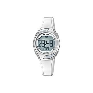 Calypso K5738/1, Reloj Digital para Mujer de Cuarzo con Correa de Plástico, Plateado