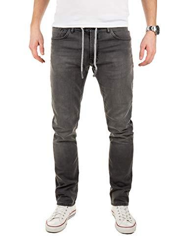 WOTEGA Jogg Jeans Männer Noah - Graue Herren Sweathose in Jeansoptik - Jogger Männer Jogjeans Slim, Grau (Magnet 193901), W34/L34