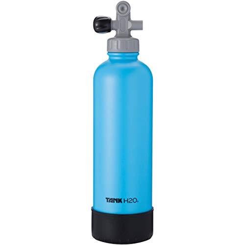 TankH2O Scuba Tanque de vacío Botella con Material Aislante de Agua: el Gran Regalo y Accesorios para los buceadores | Sostiene 700 ml | Cap BPA, Silicona Arranque (Azul)