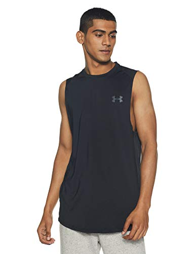 Under Armour Men's MK-1 Sleeveless, Black/Stealth Gray, X-Large Tall -