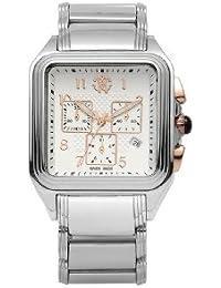 Roberto Cavalli Men's Venom Chronograph Watch R7253692145 with Quartz Movement, Stainless Steel Bracelet and White Dial