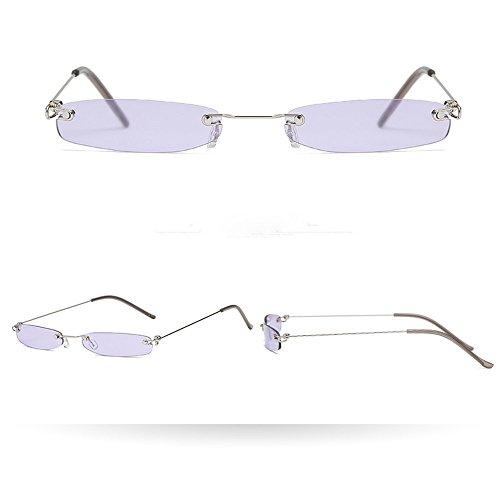 Makefortune Unisex Katzenauge Sonnenbrille Retro Partybrillen Klassische Cateye Kleine Oval Retro Vintage Brillen Rahmen Brillen Hochwertige Metallrahmen Nerdbrille