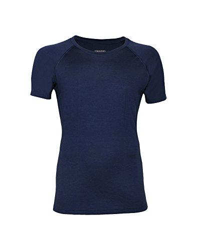 Dilling Merino T-Shirt für Herren - optimal für Alltag, Sport und Freizeit aus 100% exklusiver Merinowolle Dunkelblau XXL - T-shirt Unterwäsche