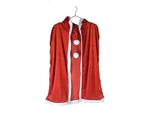 Weihnachtsgroße Ideen Weihnachten Kostüme Lange Kapuze Mantel Kinder Schal für Masquerade Cosplay (rot)