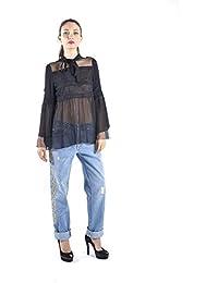 200 Camisa Eur 500 Negra Ropa Mujer Amazon es Mujer nIYaSx1q