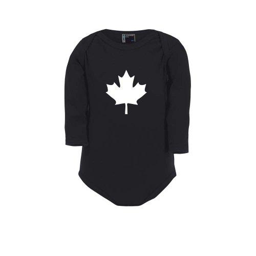 Cre9tive Shirts Kanada Ahorn Blatt - Canada, Baby Body, Größe 80, schwarz (Kostüme Kanada 80 Für)