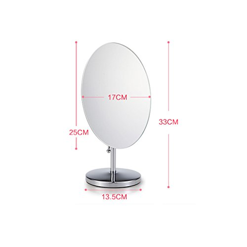 TANG CHAO Spiegel Desktop Oval Spiegel Wooden Base Single Spiegel Make-up Spiegel Dressing Mirror Creative Storage Base Beauty Mirror (Farbe : B) -