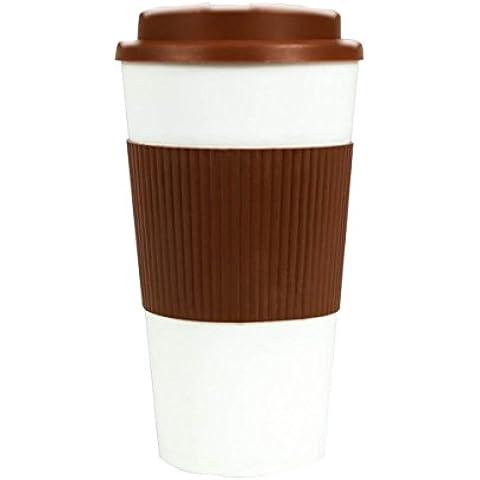 Food Grade plastica Finger sicuro Grip in silicone tazza per bevande calde, Brown - Brown Flask